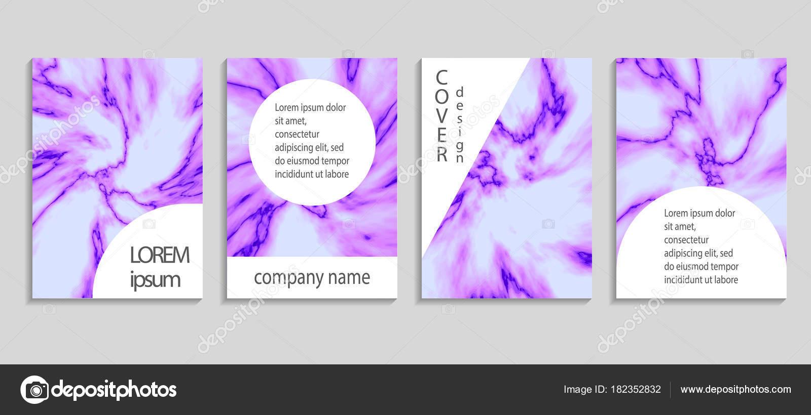 Carte De Visite Et La Couverture Lensemble Modeles Elegant Abstraits Identite Marque Kit Avec Texture Marbre Details Feuille Dor