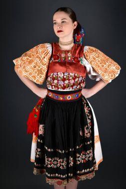 Slovakian folklore dancer