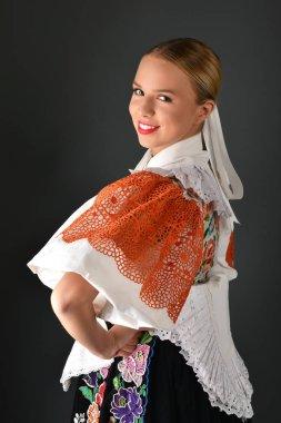 Slovakian folklore woman
