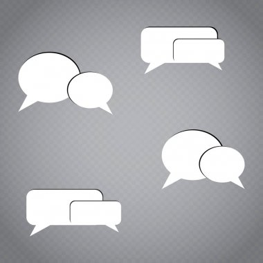 Phone chat message. Speech Bubble icons with smartphone. Communication concept