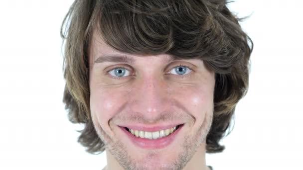 A mosolygó arc ember közelről