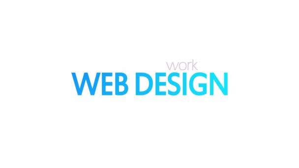 Web-Design, animierte Typografie