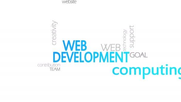 Webentwicklung, animierte Typografie