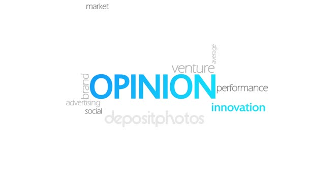 Opinion, Animated Typography