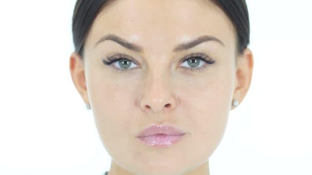 krásná žena obličeje zblízka