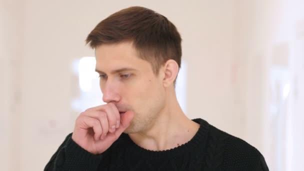 Portrét mladého nemocného, kašel, kašel