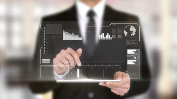 Wachsen Sie Ihre Small Business, Hologramm futuristische Interface, ergänzt virtuelle