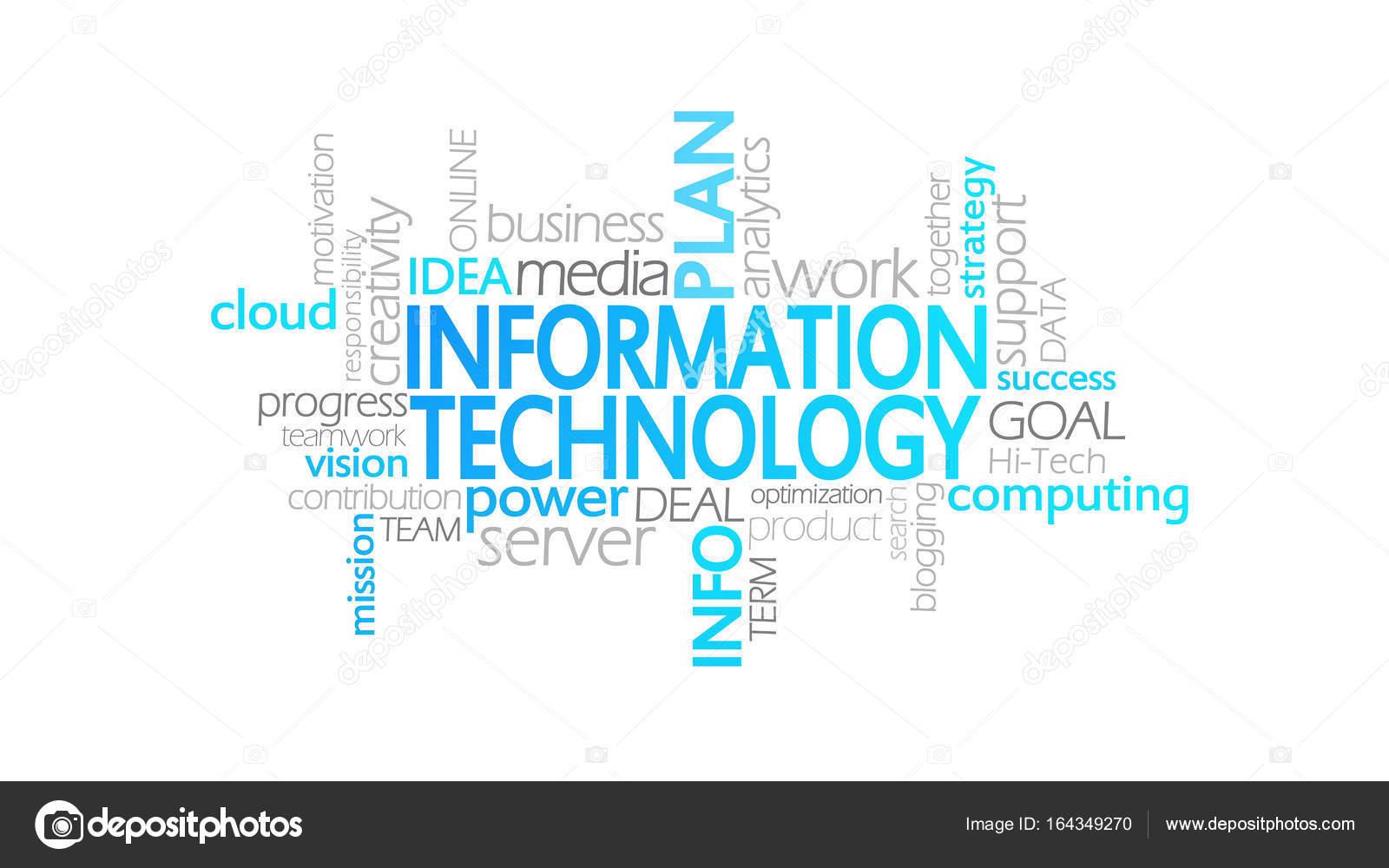 Tecnología de la información, tipografía animada — Foto de stock ...