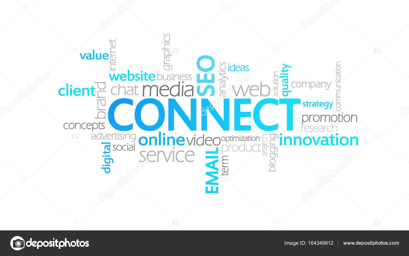 Conectar, tipografía animada — Fotos de Stock © mustang.marshal ...