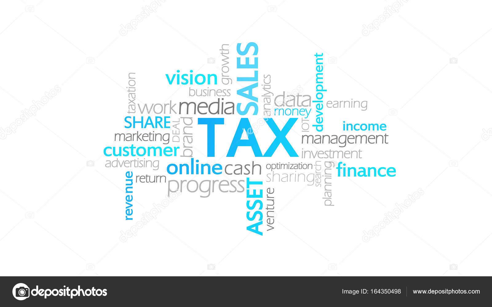 Impuesto, animación de tipografía — Fotos de Stock © mustang.marshal ...