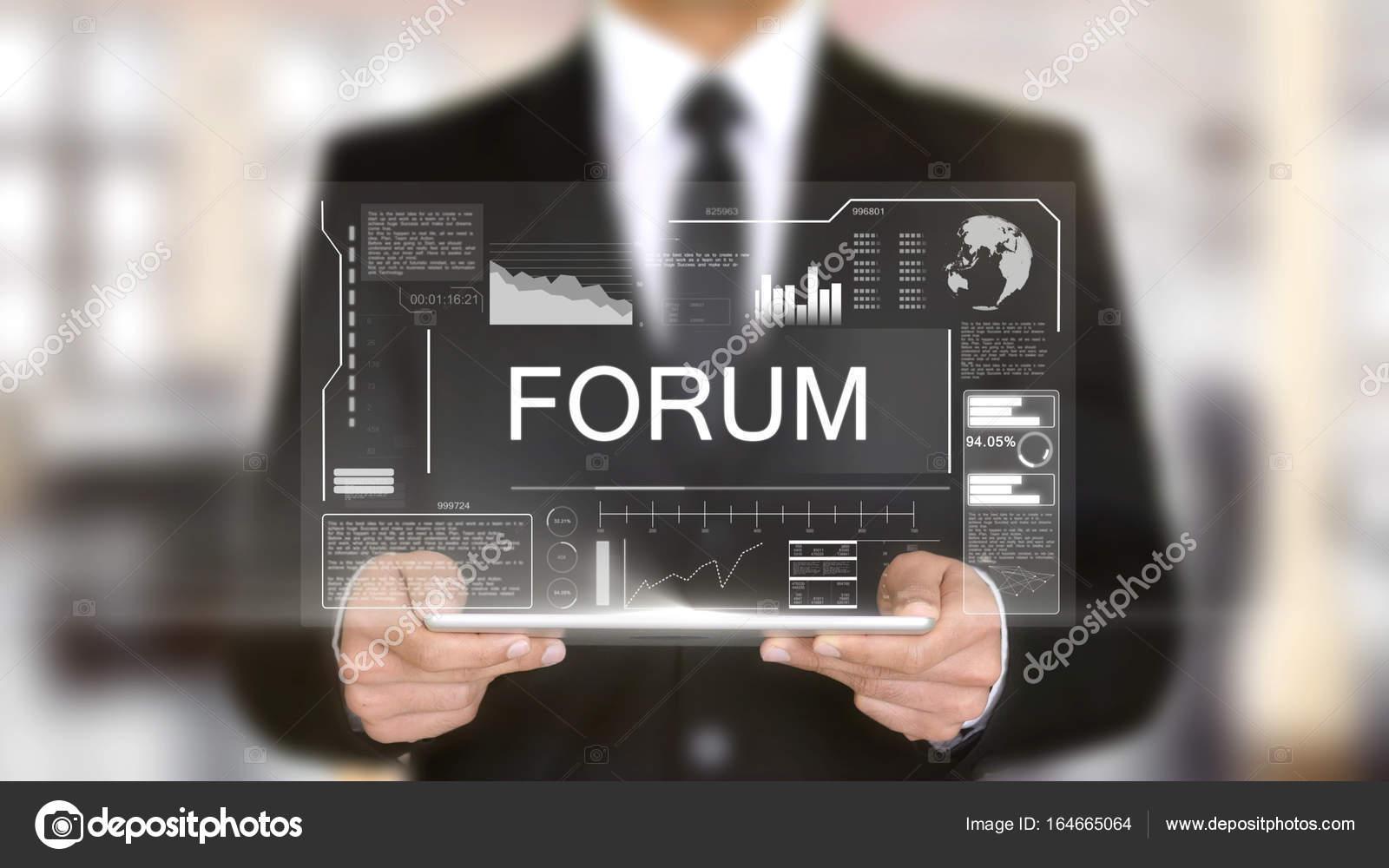 Forum, Hologram Futuristic Interface, Augmented Virtual Reality
