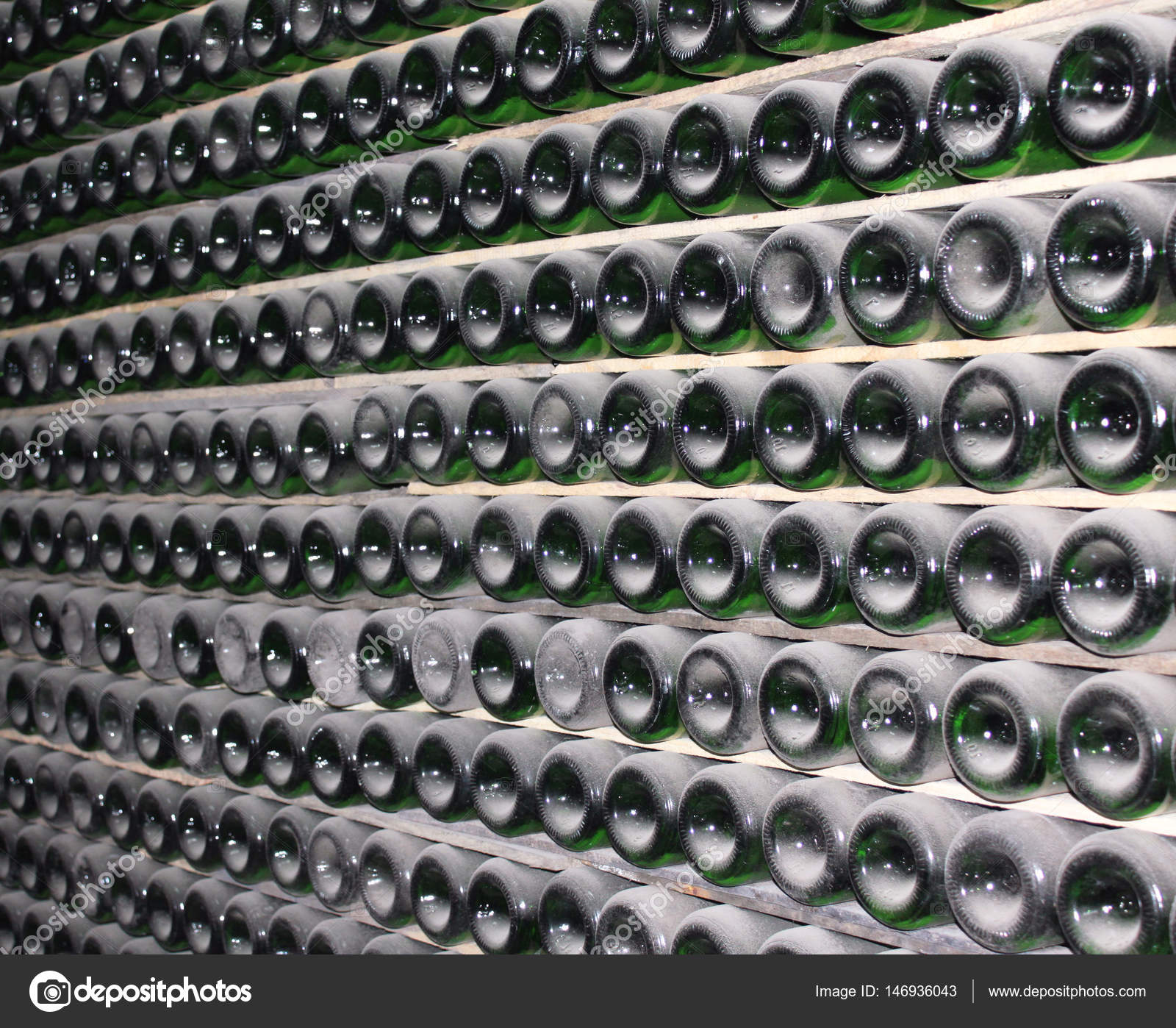 stack wine. Large Stack Of Wine Bottles In Winery \u2014 Stock Photo
