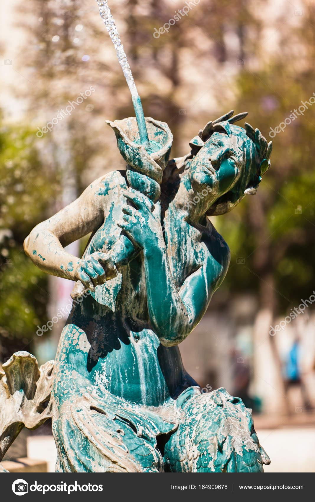 art nuveau figure on a fountain stock photo ms grafixx 164909678