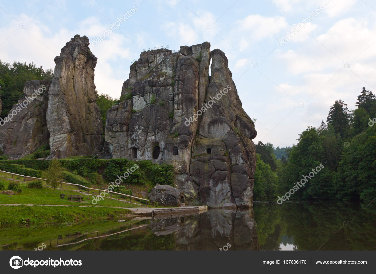 Horn Bad nature monument at horn bad meinberg stock photo ms grafixx