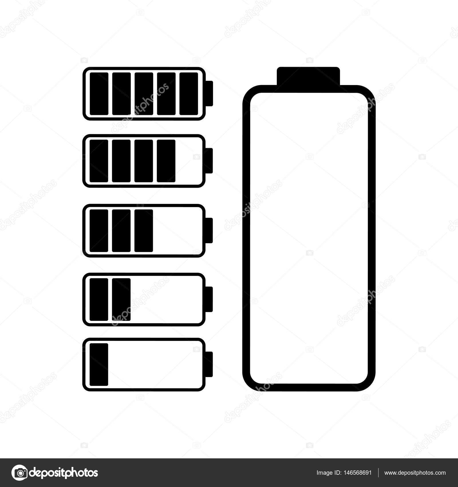 Batterie-Symbol auf weißem Hintergrund — Stockvektor © Nabi33 #146568691