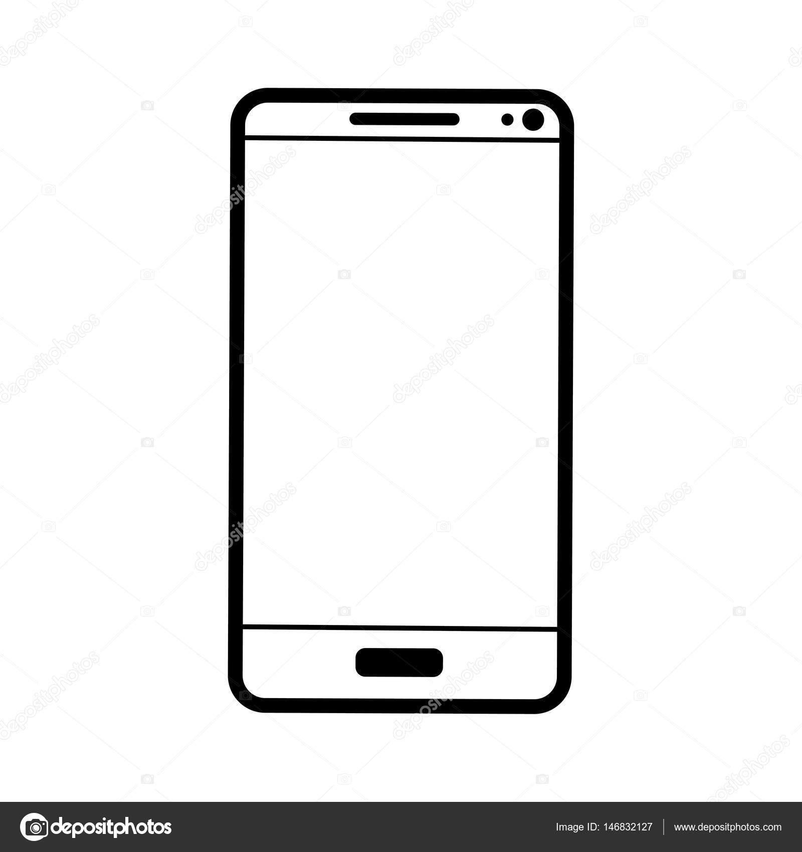 Icona Cellulare Su Sfondo Bianco Vettoriali Stock Nabi33 146832127