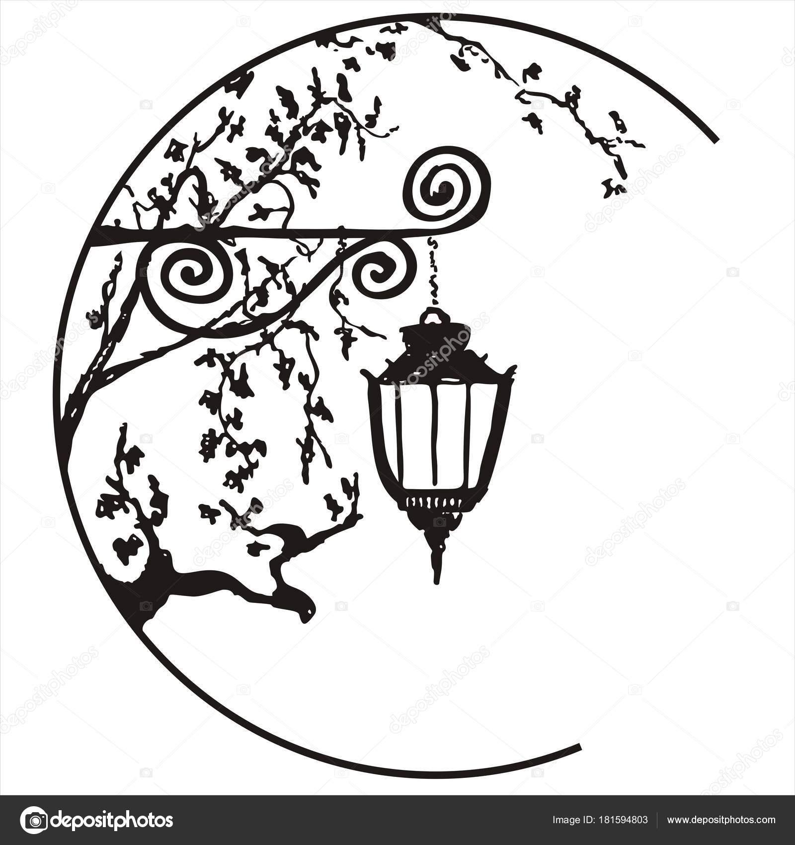 Imágenes Cruces Para Colorear Linterna Sola Blanco Negro