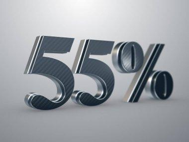 55 percent off discount sign