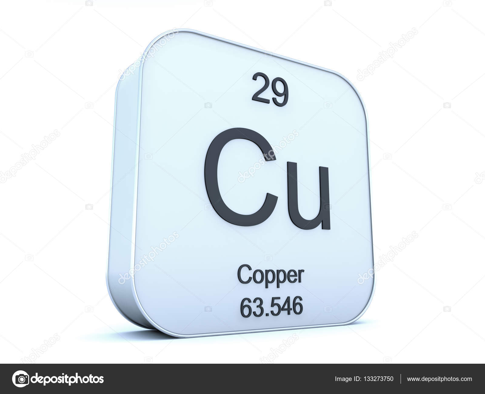 Copper element on white square icon stock photo conceptw 133273750 copper element on white square icon on white background 3d render photo by conceptw buycottarizona Image collections