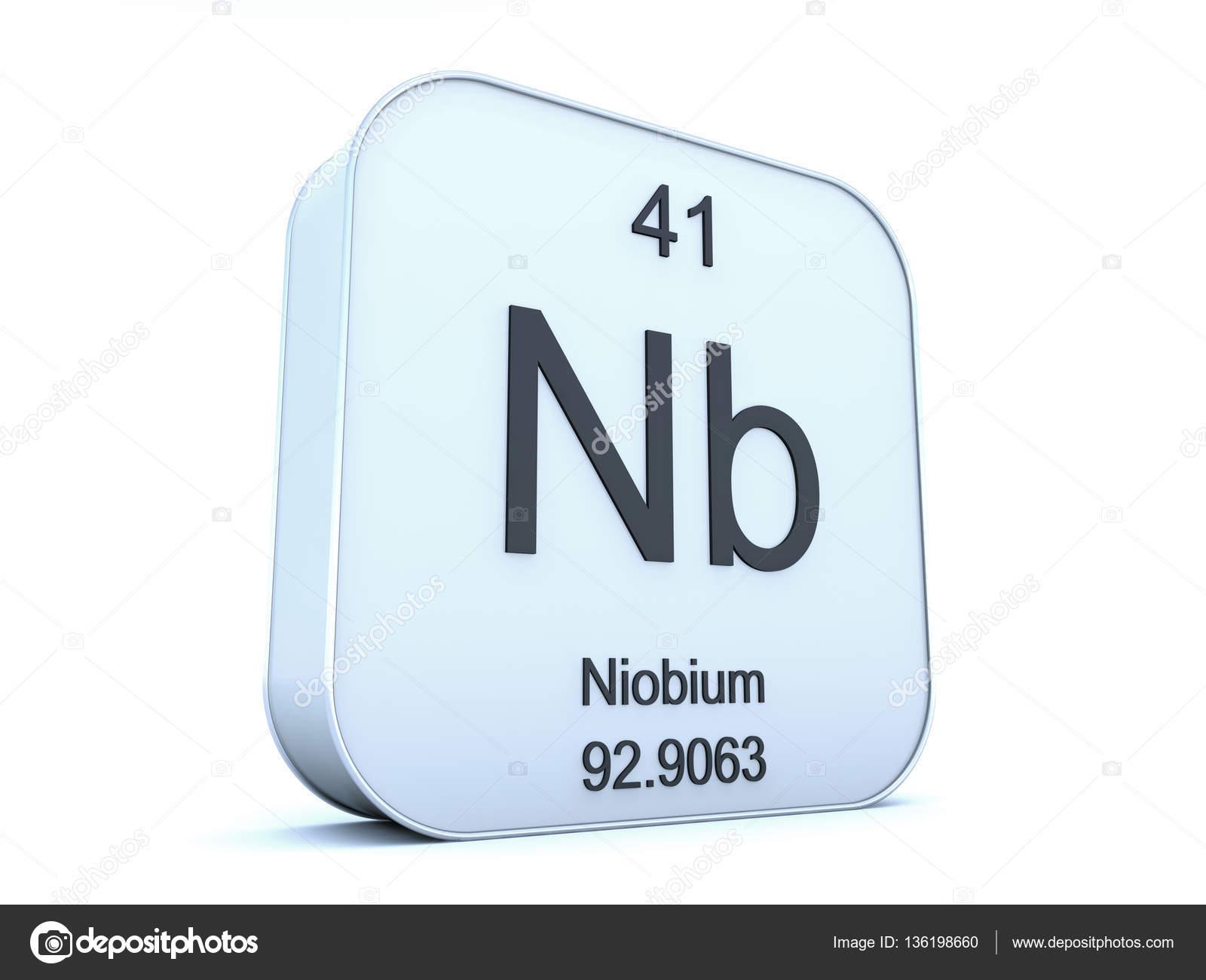 Niobium element on white square icon stock photo conceptw niobium element symbol from the periodic table on white rounded square icon photo by conceptw biocorpaavc