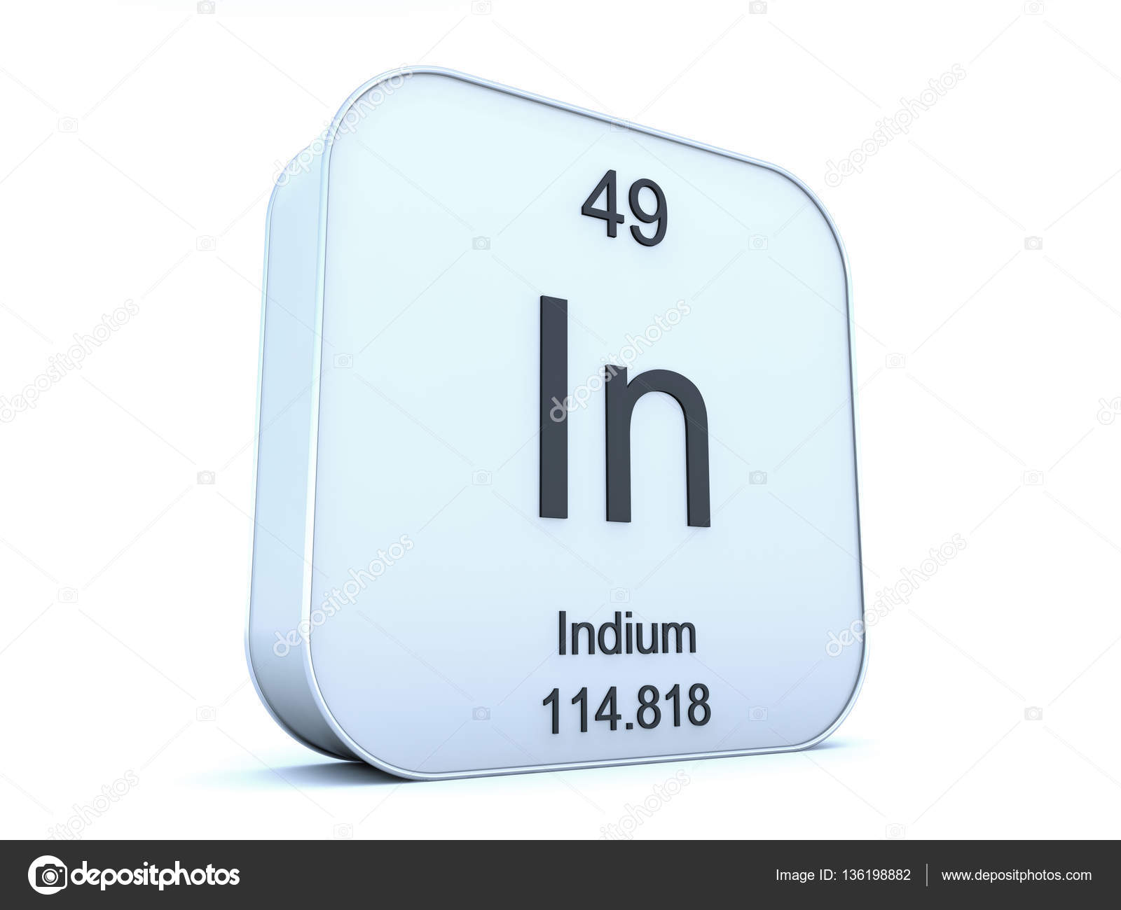 Indium element on white square icon stock photo conceptw indium element symbol from the periodic table on white rounded square icon photo by conceptw biocorpaavc Images