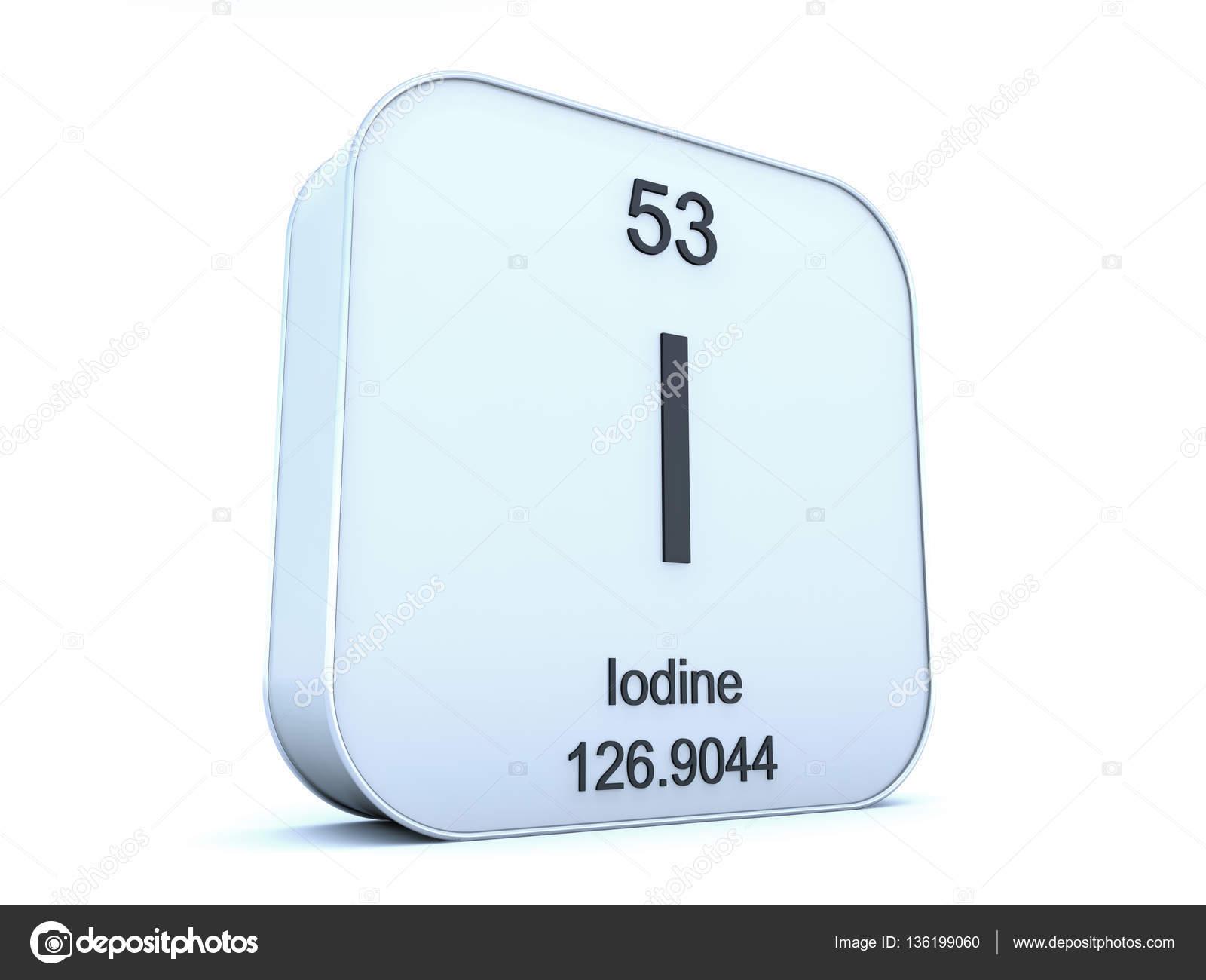 Iodine element on white square icon stock photo conceptw 136199060 iodine element symbol from the periodic table on white rounded square icon photo by conceptw urtaz Choice Image