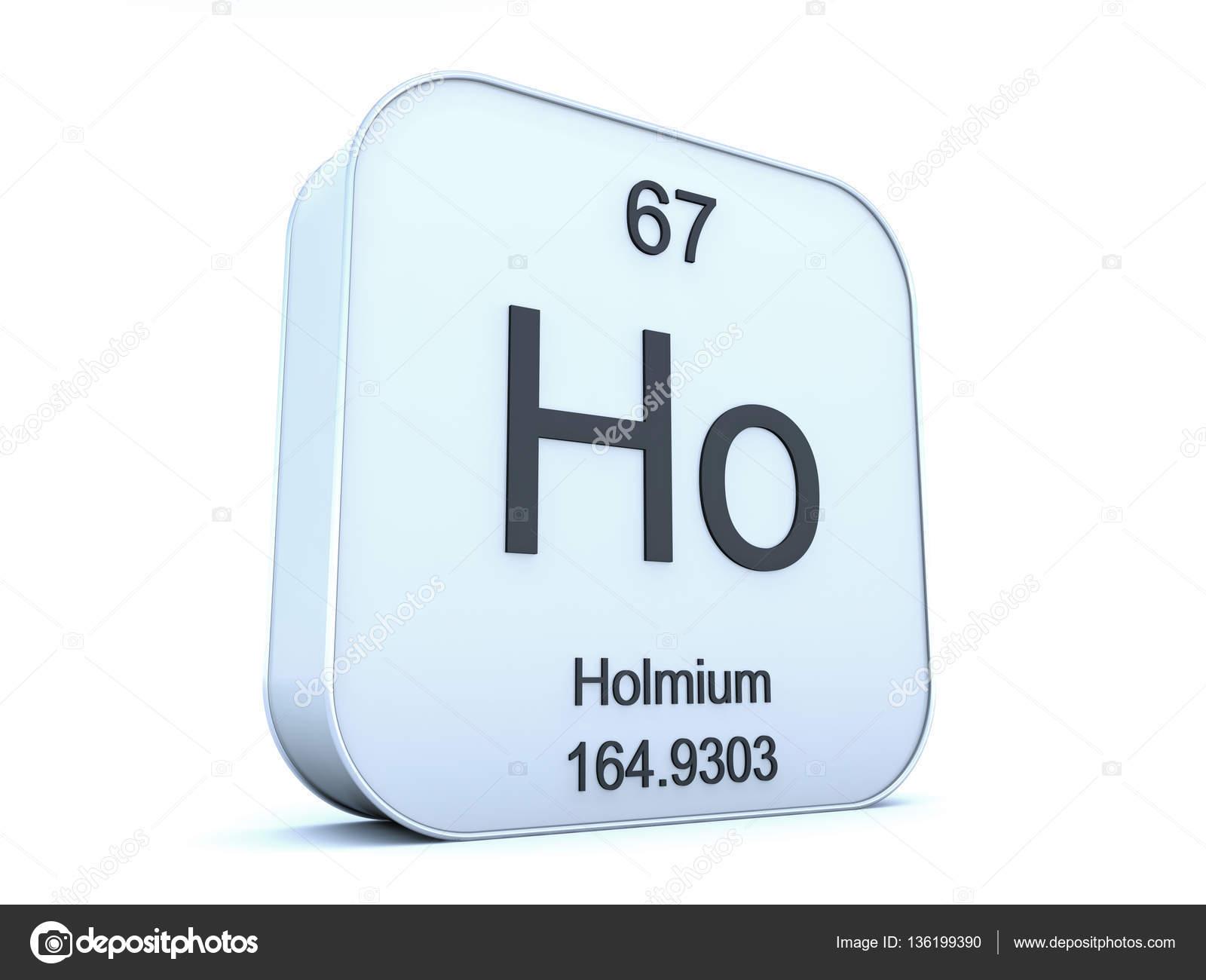 Holmium Element On White Square Icon Stock Photo Conceptw 136199390