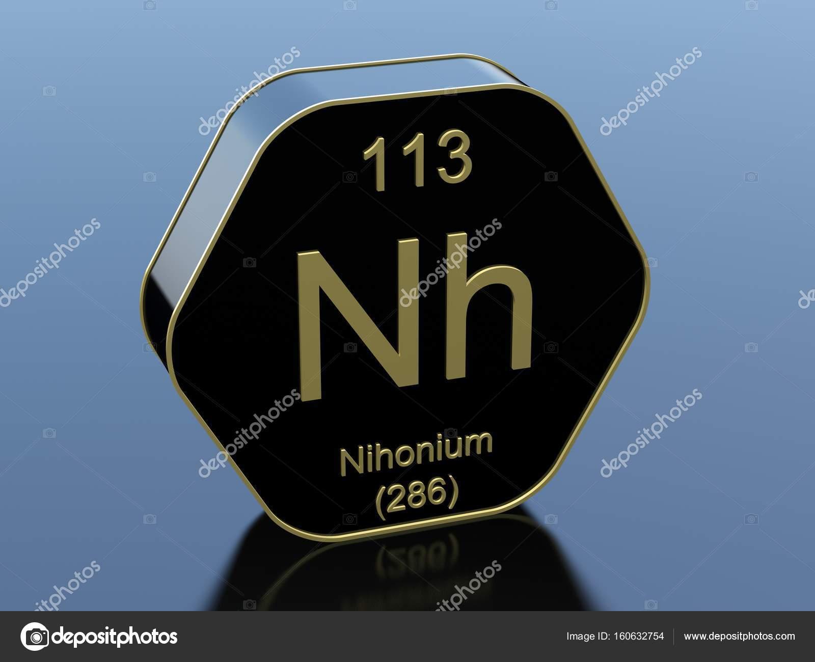 Nihonium element symbol — Stoc...