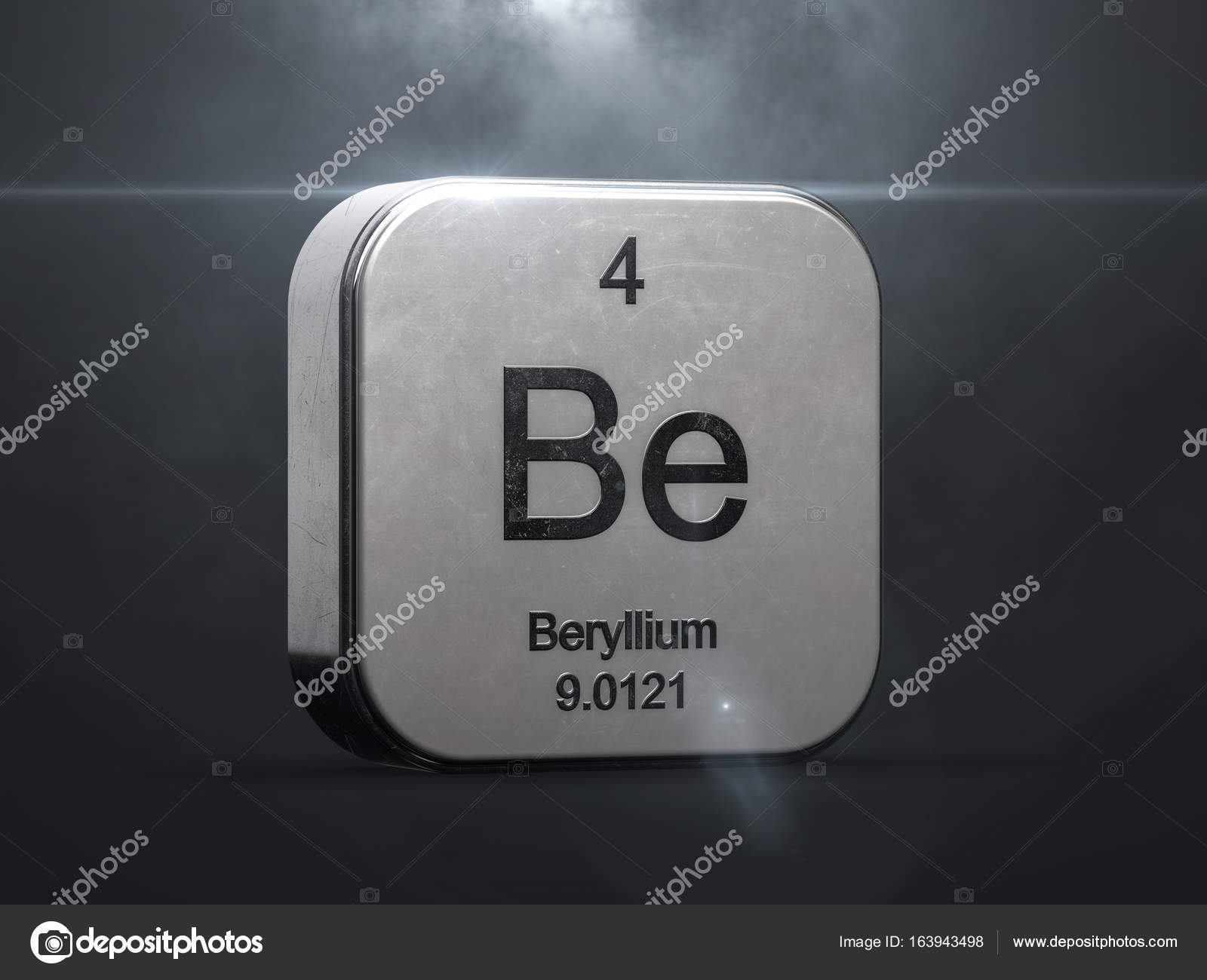 Beryllium element from the periodic table stock photo beryllium element from the periodic table metallic icon 3d rendered with nice lens flare photo by conceptw gamestrikefo Image collections