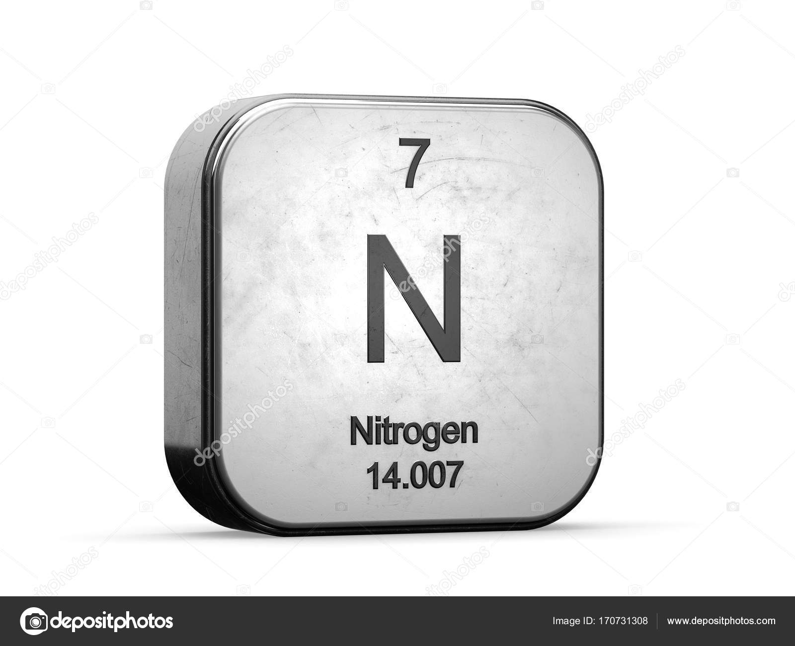 Nitrogen element from the periodic table stock photo conceptw nitrogen element from the periodic table stock photo urtaz Choice Image