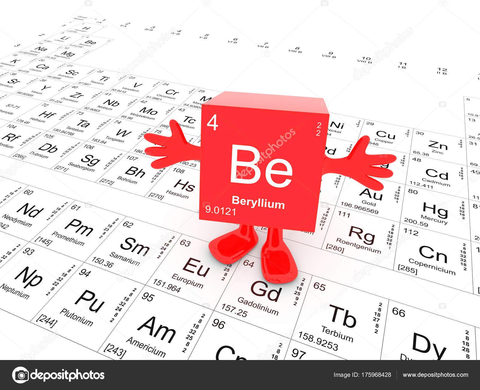 smbolo del elemento berilio tabla peridica feliz cubo rojo con fotos de stock - Tabla Periodica Berilio