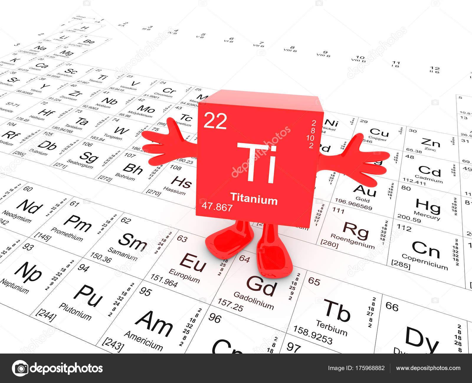 Titanium element symbol periodic table happy red cube hands stock titanium element symbol periodic table happy red cube hands stock photo urtaz Gallery