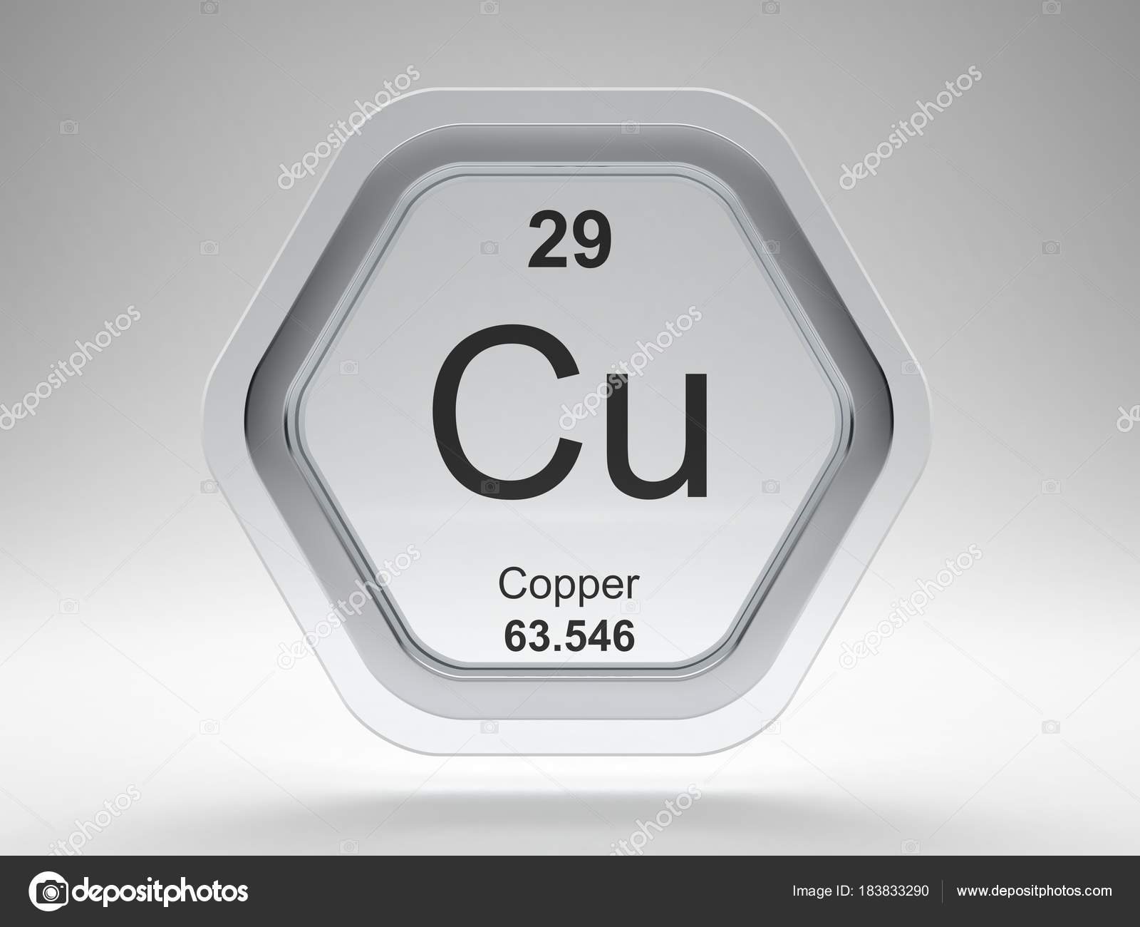 Copper symbol periodic table modern glass steel icon stock photo copper symbol from the periodic table on modern glass and steel icon photo by conceptw urtaz Choice Image