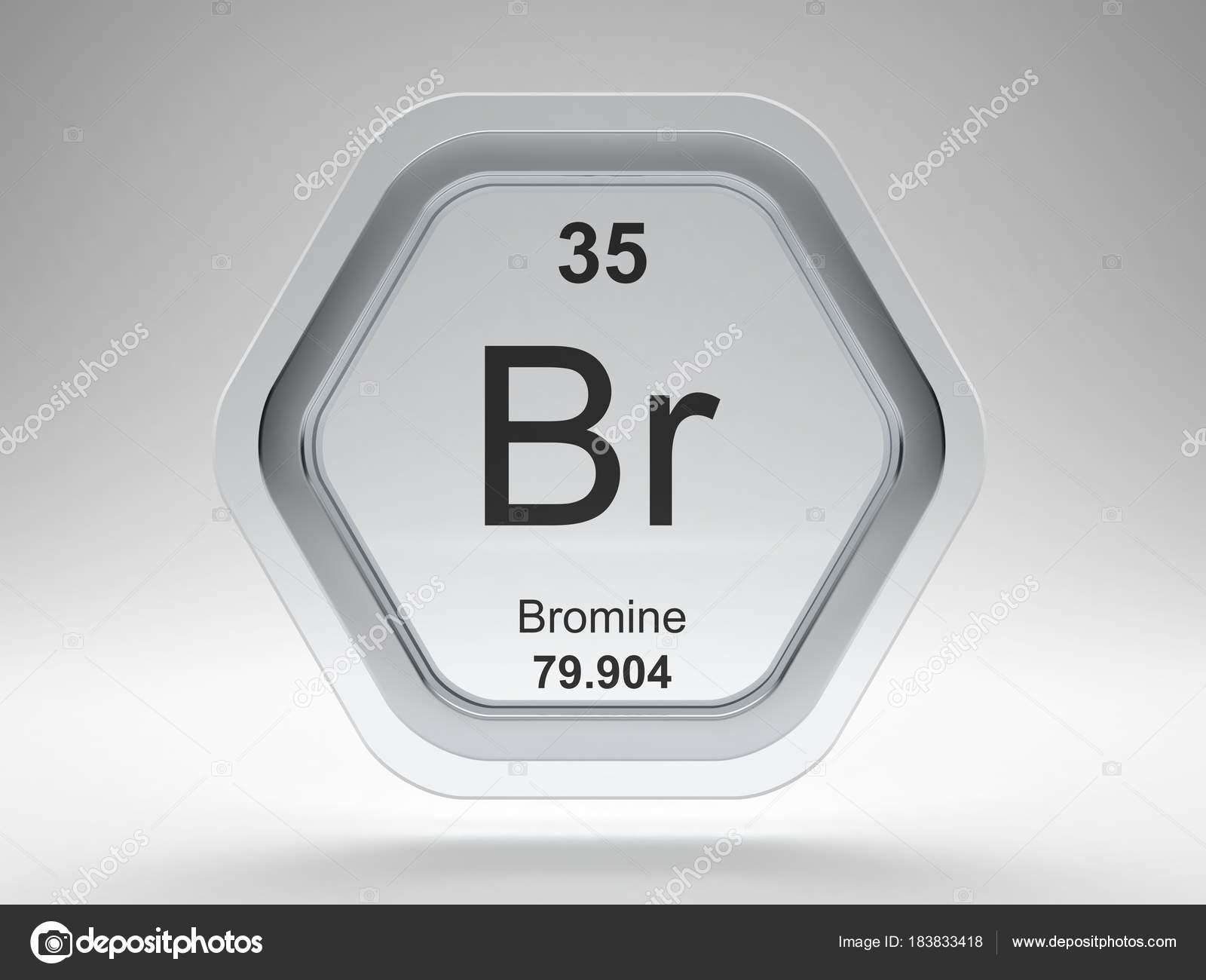Bromine symbol periodic table modern glass steel icon stock bromine symbol periodic table modern glass steel icon stock photo biocorpaavc