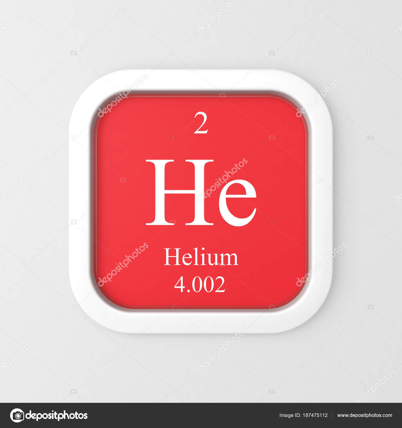 Helium Symbol Red Rounded Square Icon Stock Photo Conceptw