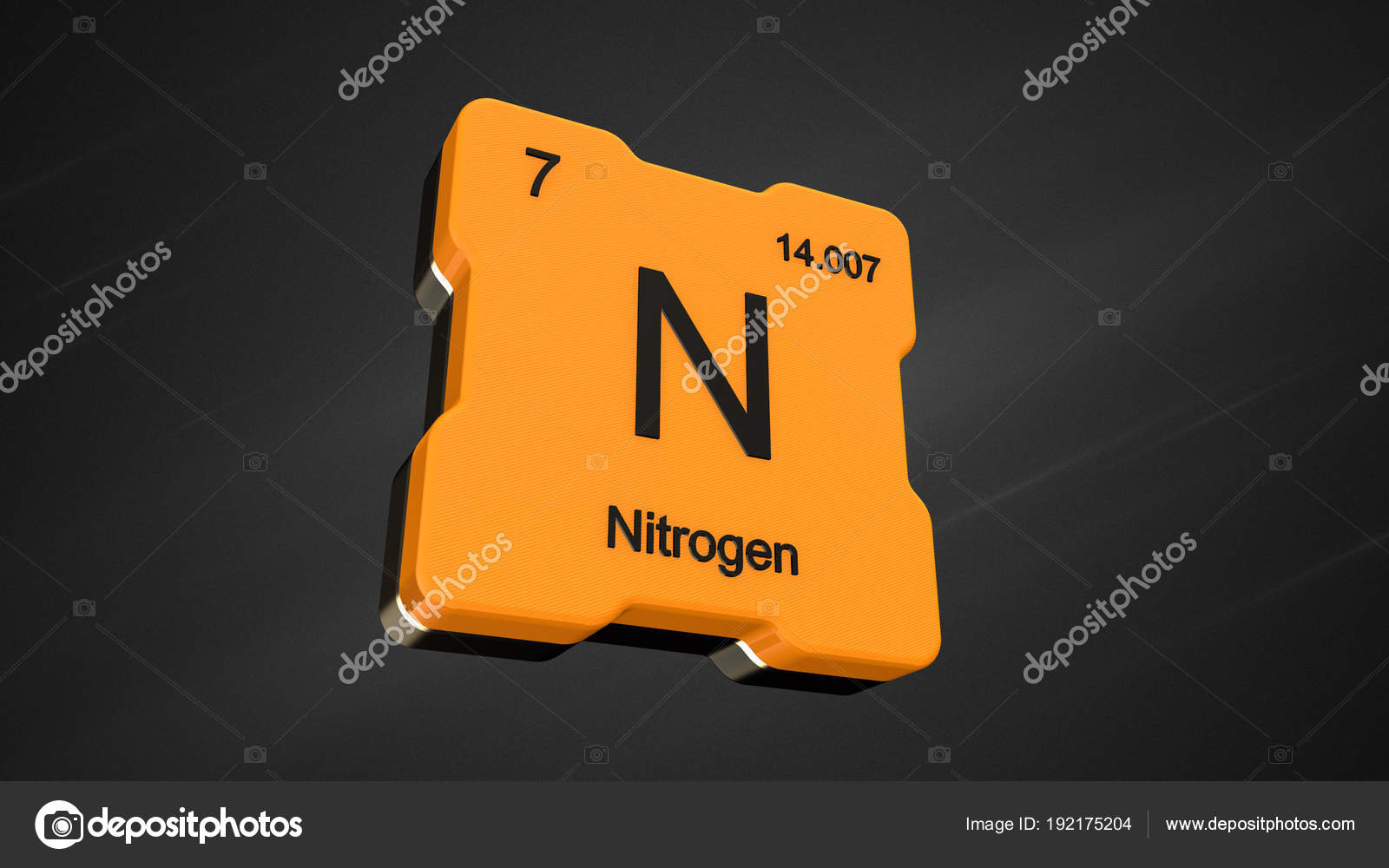 Nitrogen element number periodic table futuristic yellow icon nice nitrogen element number 7 from the periodic table on futuristic yellow icon and nice lens flare on noisy dark background 3d render photo by conceptw urtaz Images