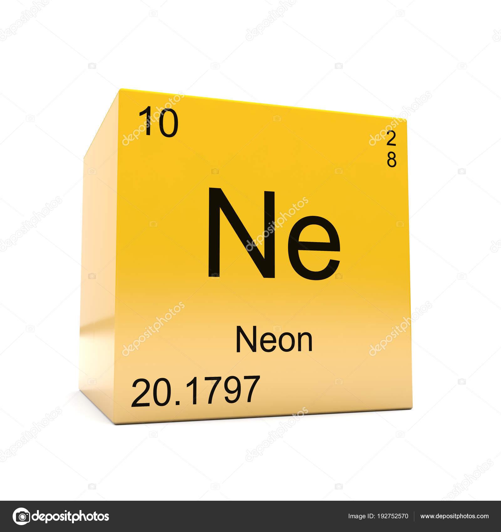 Neon chemical element symbol periodic table displayed glossy yellow neon chemical element symbol periodic table displayed glossy yellow cube stock photo urtaz Gallery