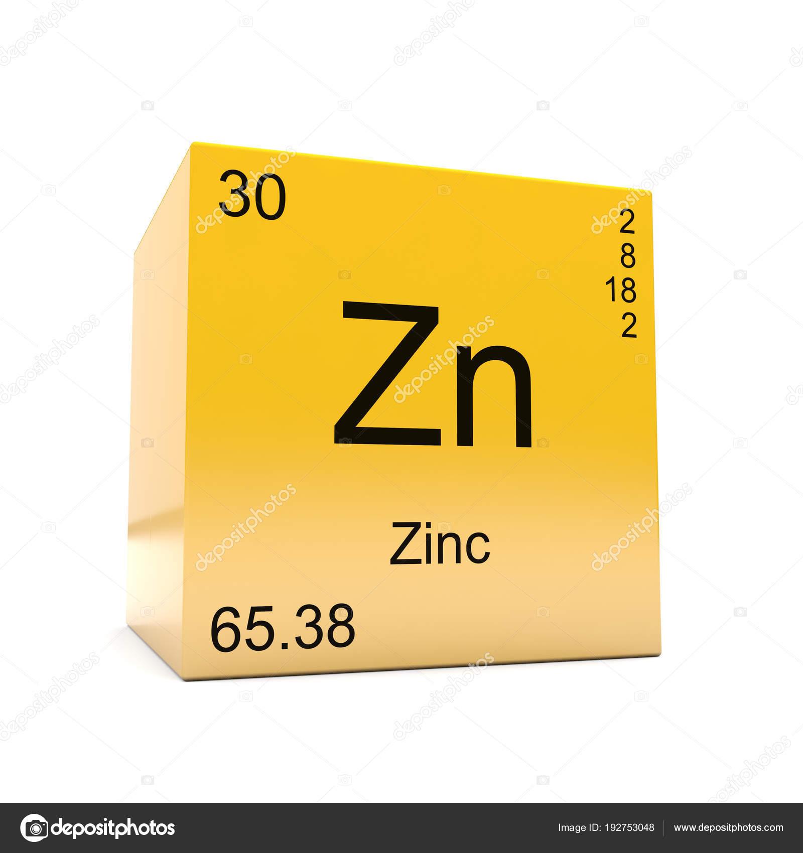 Smbolo del elemento qumico del cinc tabla peridica aparecen cubo smbolo del elemento qumico del cinc tabla peridica aparecen cubo foto de stock urtaz Images