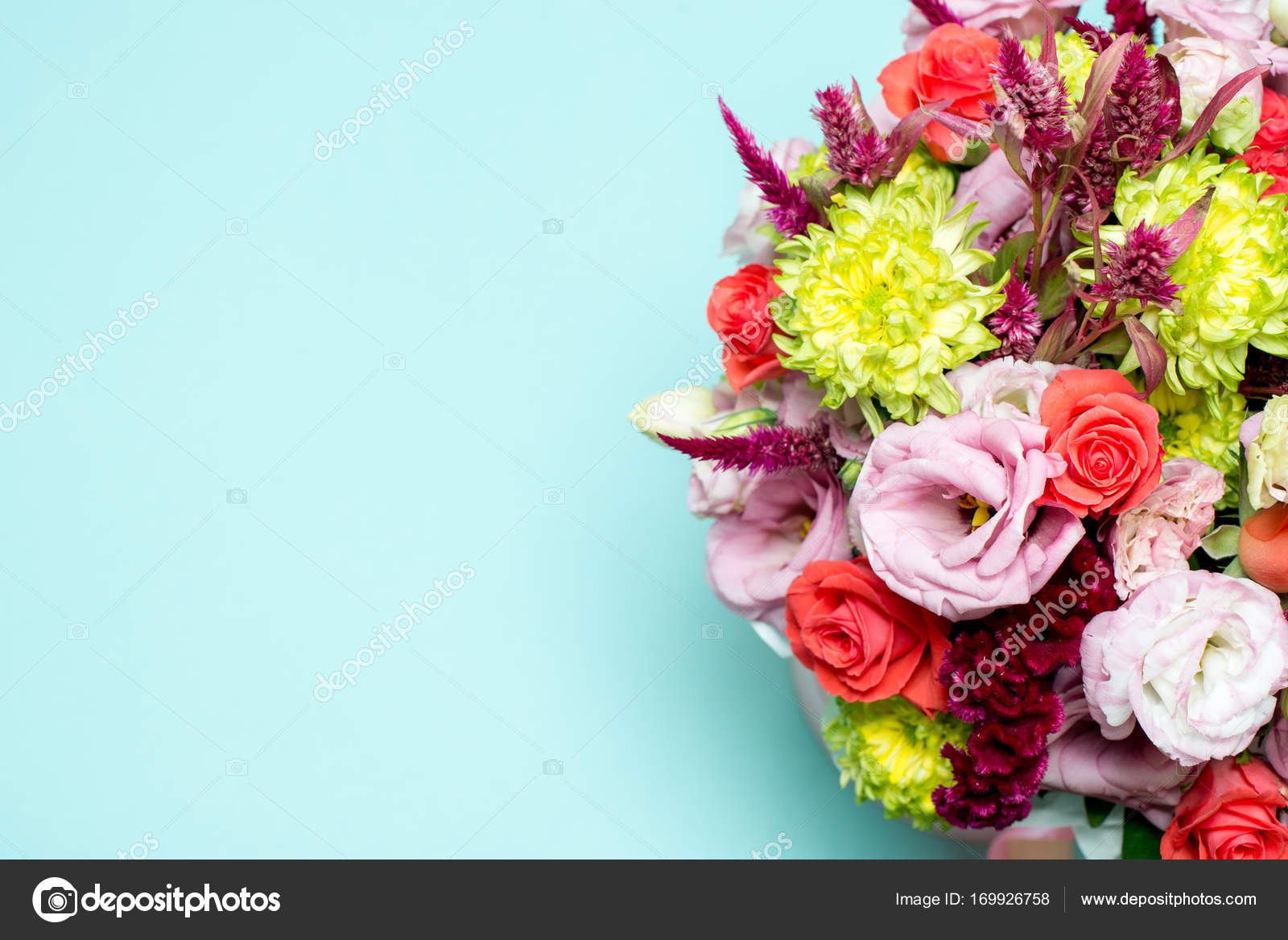 Beautiful floral arrangement pink and red rose pink eustoma beautiful floral arrangement pink and red rose pink eustoma yellow chrysanthemum stock izmirmasajfo