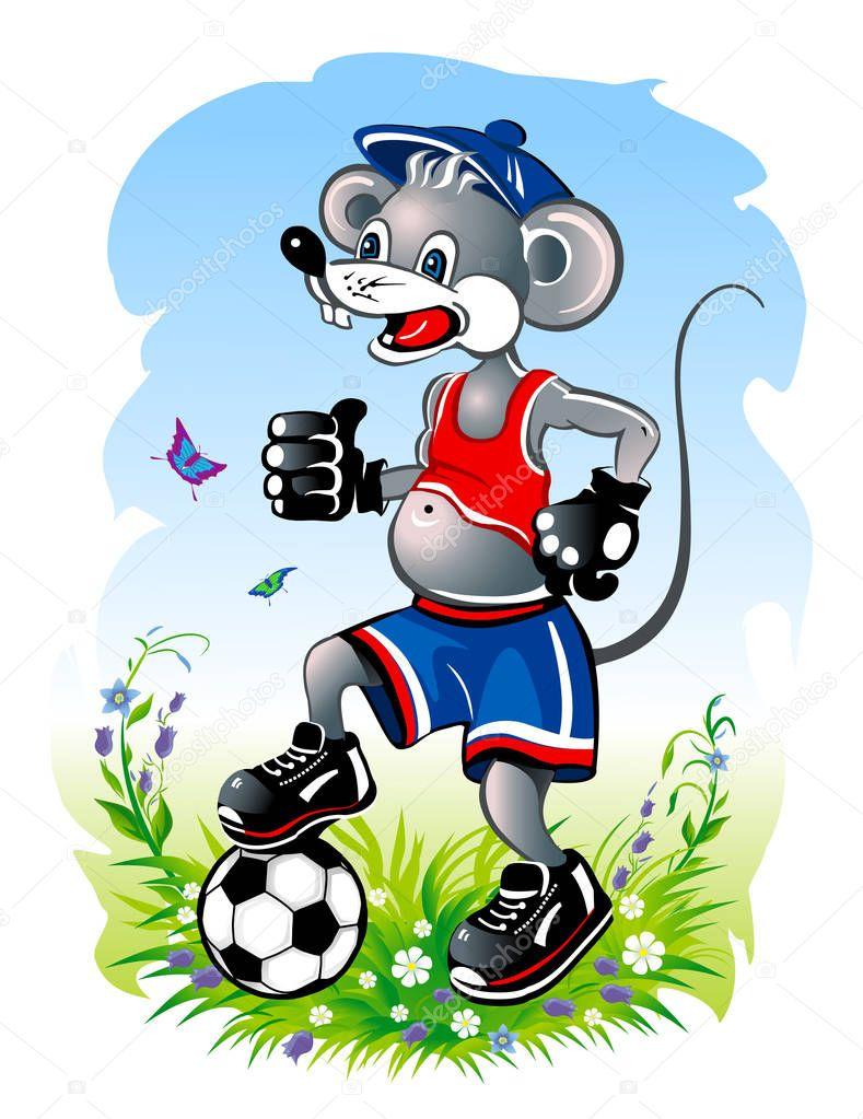картинка мышка спортсмен такой интерпретации слова