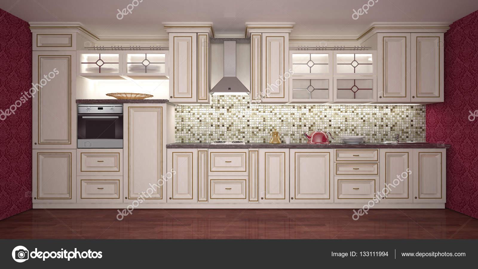Mobili. Colori luminosi interni di cucina — Foto Stock © elen7475 ...