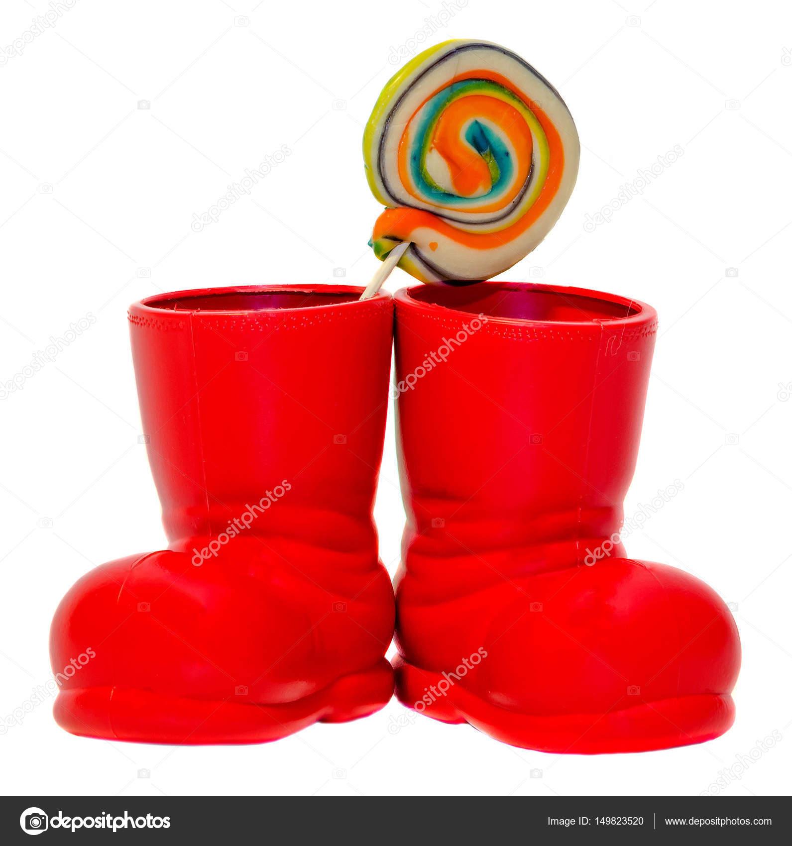 stivali Natale lecca scarpe lecca colorate con dolce Babbo rosso EpwdBp