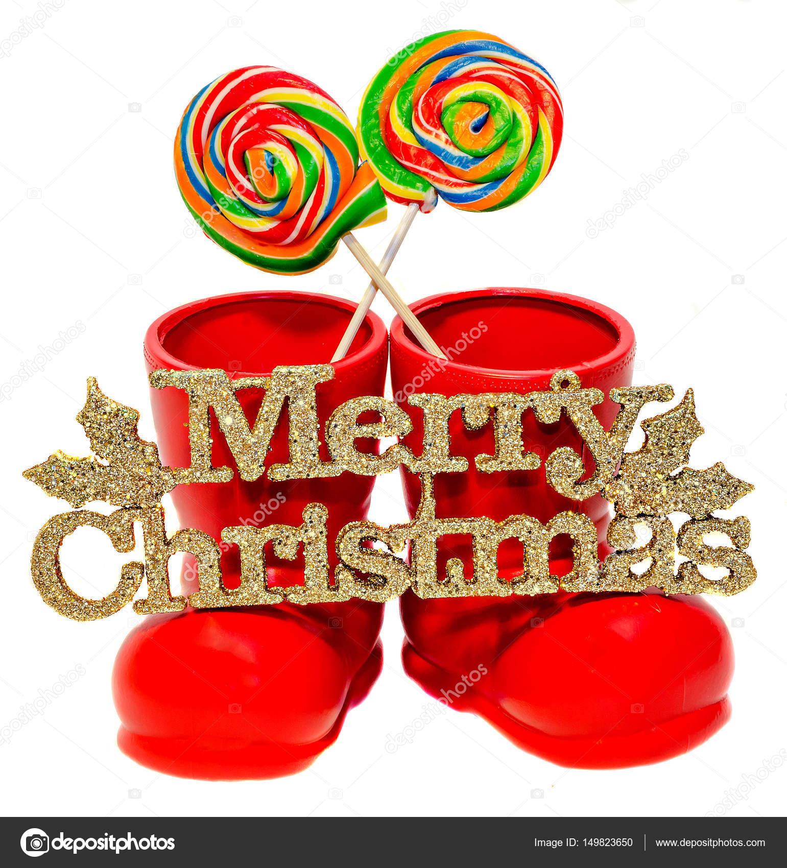 Weihnachtsmann Rot Stiefel Schuhe Sankt Nikolaus Roten Stiefeln