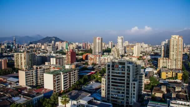 Timelapse di Santiago Downtown al crepuscolo