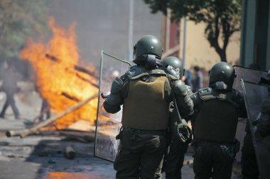 Çevik kuvvet polisi Şili