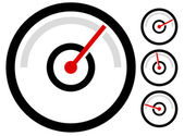 Photo gauge, speedometer icons set