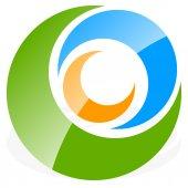 Fotografie Spiral, circles logo.