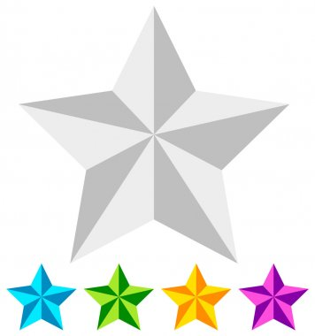 3d star. Star icons set
