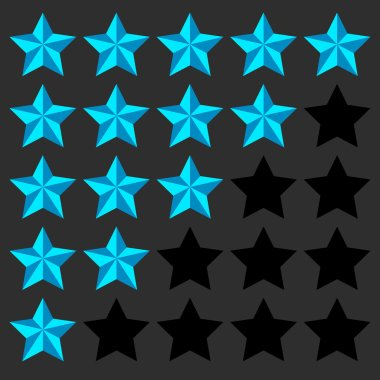 Star rating elements set