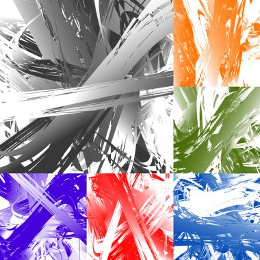 abstract painted artistic texture set